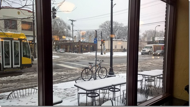 Schwinn IG5 outside Turtle Bread in Winter slush smaller