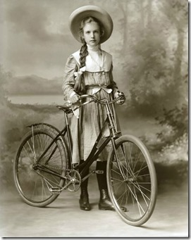 19th Century lady and bike