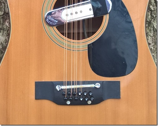 Cortez 12 string Tibbetts Stringing Closeup