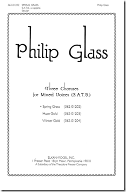 Phillip Glass Spring Grass