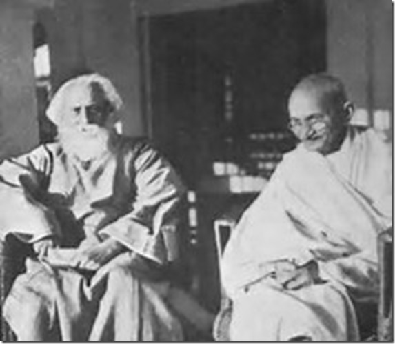 tagore with Gandhi