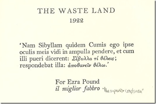 Waste Land title page