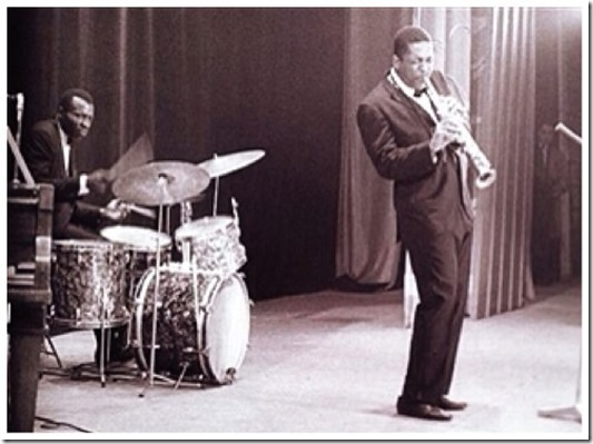 John Coltrane and Elvin Jones