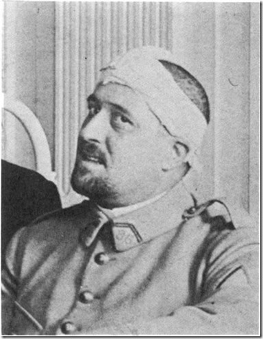 Apollinaire with WWI head wound