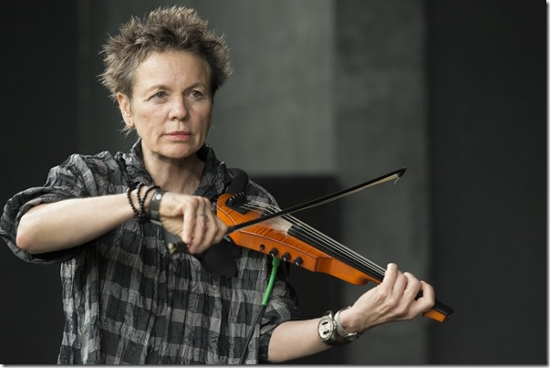 Laurie Anderson and electric violin