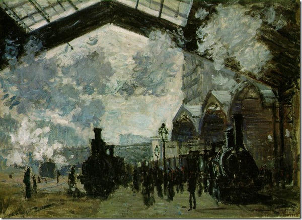 Monet St Lazare Station