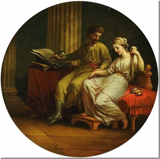 Catullus Comforting Lesbia over the Death of Her Pet Sparrow and Writing an Ode