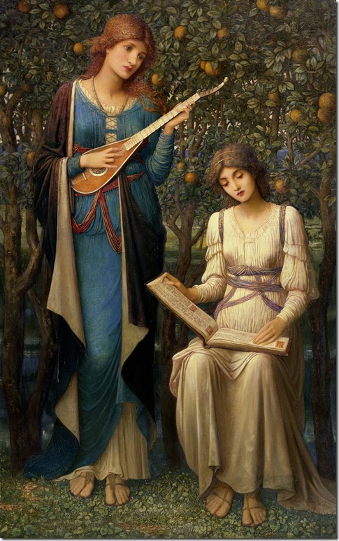 John Melhuish Strudwick  When Apples Were Golden and Songs Were Sweet