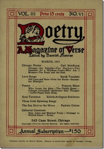 Poetry Magazine March 1914