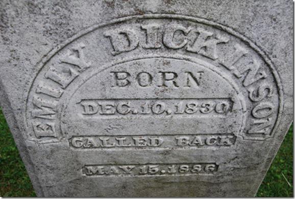 Emily Dickinson Gravestone