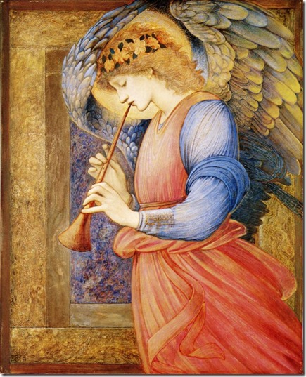 an_angel_playing_a_flageolet-Burne-Jones