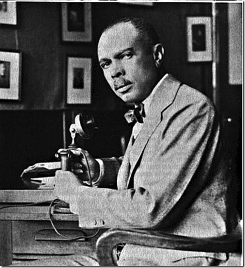 James Weldon Johnson on the phone