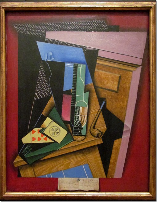 Still Life with Poem by Juan Gris