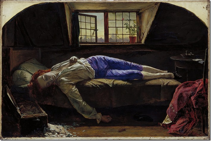 Death of Chatterton by Henry Wallis
