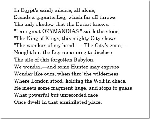 Horace Smiths Ozymandias