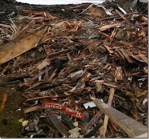 Weckage of Burma Shave Building