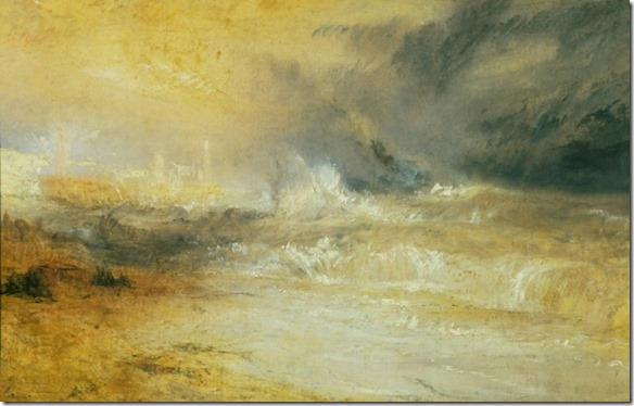 JMW Turner Waves Breaking on a Lee Shore at Margate