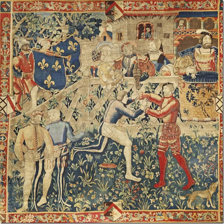 Meeting of Henry VIII and King Francis 1 c1520 with John Blanke shown