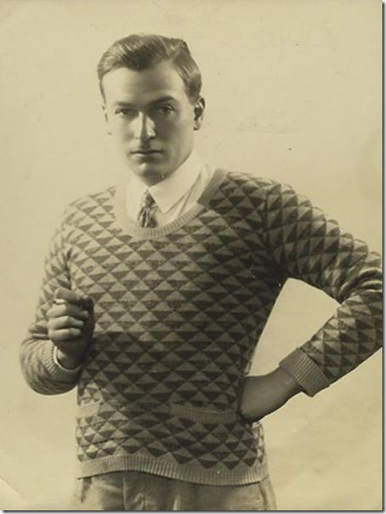 Richard Aldington in sweater
