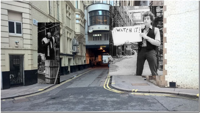 The Savoy Alley yesterday and today