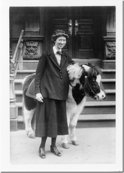 Marianne Moore with pony