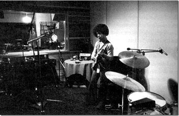 Prince in the studio