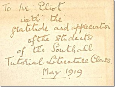 Students-inscription-to-T S Eliot 1919