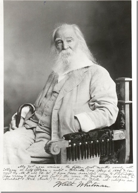 Walt Whitman in Philadelpia 1889 by Frederick Gutekunst