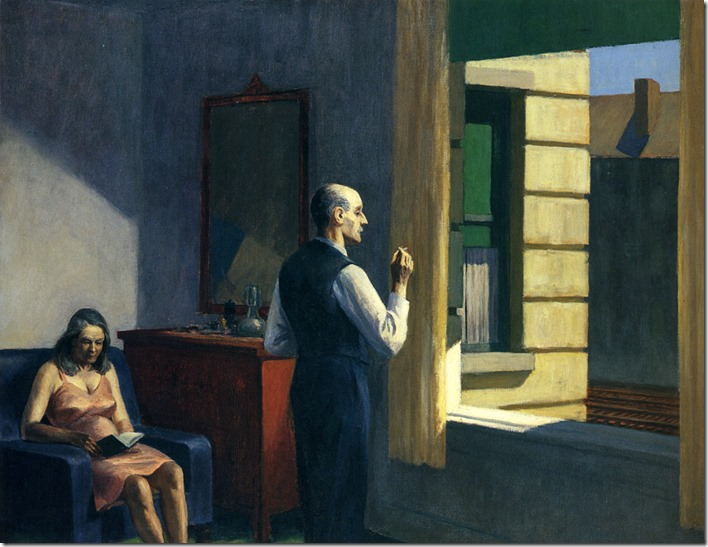 hotel-by-a-railroad by Edward Hopper