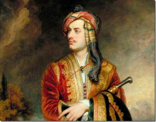 Lord Byron plays dress up
