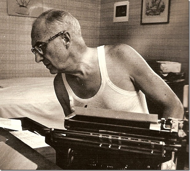 William Carlos Williams with typewriter