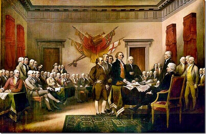 signing the declaration