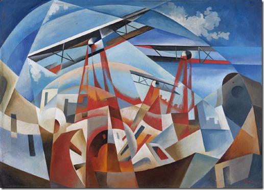 Tullio Crali - Bombardamento-aereo (1932)