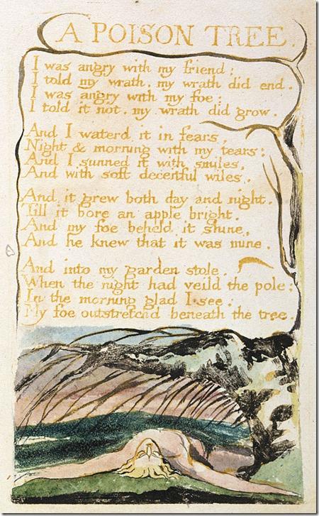Blake A Poison Tree page