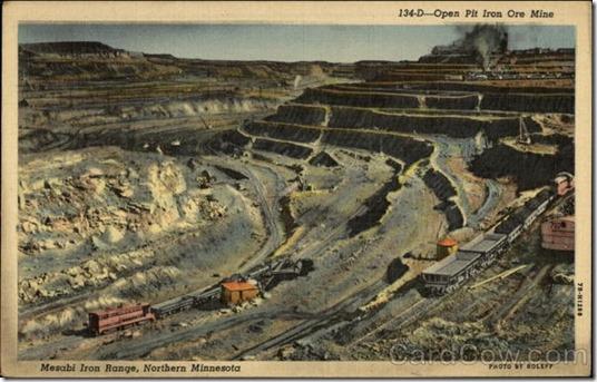postcard mesabi iron range
