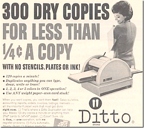 Ditto machine Ad