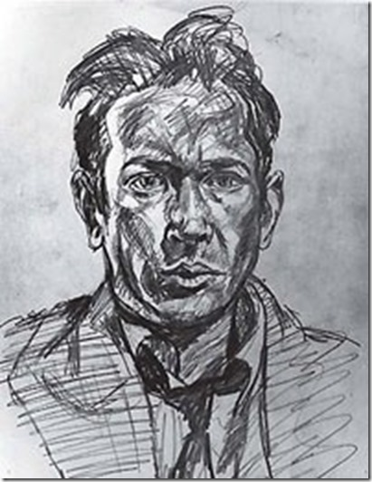 E E Cummings self-portrait