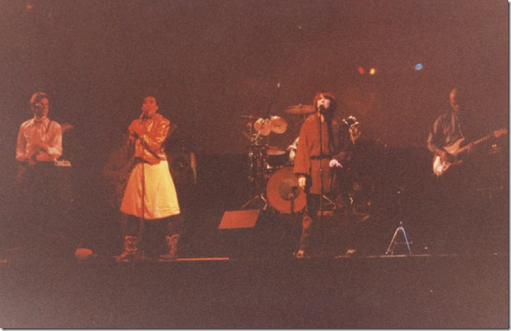 Fine Art on stage at the First Ave Mainroom early 1980s