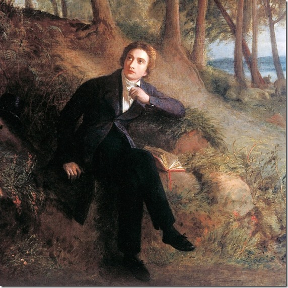 John Keats listening to the Nightingale on Hampstead Heath c1845 by Joseph Severn.