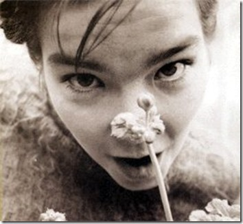 Bjork Lipping Flowers