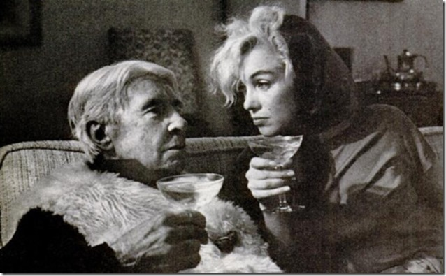 Carl Sandburg, Marilyn Monroe and some cocktails, 1962