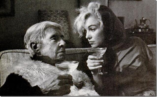 Carl Sandburg, Marilyn Monroe and some cocktails, 1962