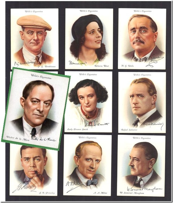 Famous British Authors Willis Trading Cards