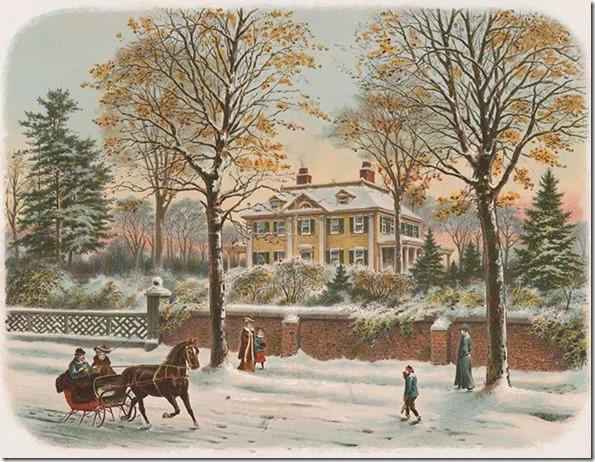 longfellows house in winter