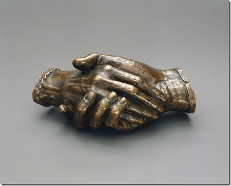 Clasped_Hands_of_Robert_and_Elizabeth_Barrett_Browning_By Harriet Hosmer