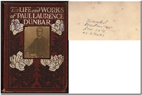 Dunbar book and pencil note inside