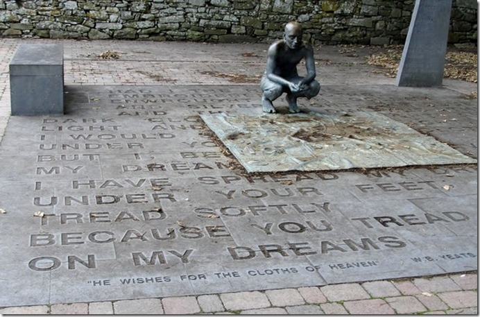 Yeats monument at Drumcliff