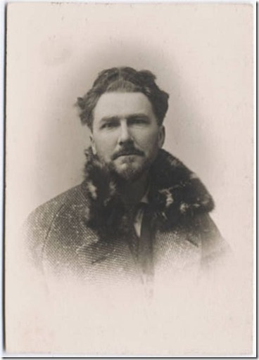 Young Ezra Pound bundled up