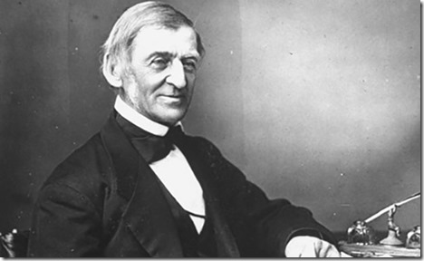 Ralph Waldo Emerson at desk