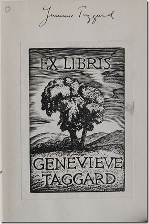 Taggard's Bookplate
